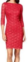 Calvin Klein Womens Petites Lace Sequined Cocktail Dress