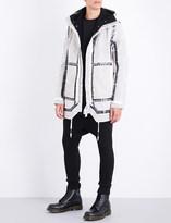 Boris Bidjan Saberi Taped seam-detailed hooded cotton coat