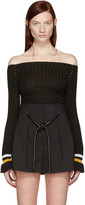3.1 Phillip Lim Black Off-the-Shoulder Pullover