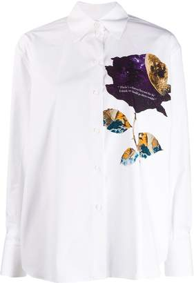 Valentino galaxy rose print shirt