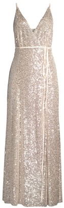 Fame & Partners The Kirrily Sequin Wrap Dress