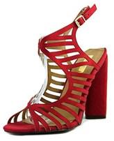 Qupid Lyra-02 Women Open Toe Suede Red Sandals.