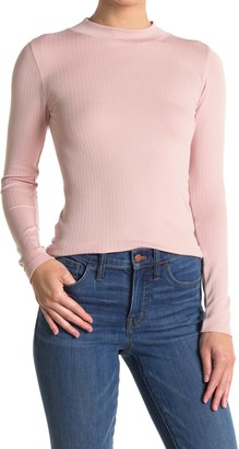 Free People Lindsey Mock Neck Ribbed Top