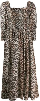 Ganni leopard print maxi dress