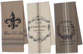 DESIGN IMPORTS Design Imports French Grain Sack Set of 3 Kitchen Towels