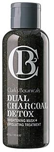 Clark's Botanicals Dual Charcoal Detox Brightening Mask+ Exfoliating Treatment