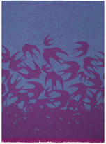 McQ Blue & Purple Swallow Dégradé Scarf