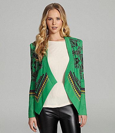 BCBGMAXAZRIA Paisley Scarf-Print Jacket