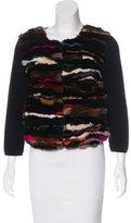 Diane von Furstenberg Mink Fur-Paneled Wool Jacket