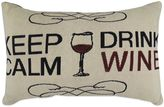 """B. Smith The Vintage House by Park Keep Calm Drink Wine"""" Tapestry Oblong Throw Pillow"""