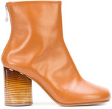 Maison Margiela circular heel ankle boots - women - Wood/Calf Leather/Leather - 39