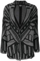 Just Cavalli patterned cardi-coat