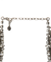 Tom Binns Fettered Layered Rhodium Plated Necklace in White