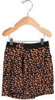 Little Marc Jacobs Girls' Leopard Print A-Line Skirt