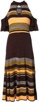 Apiece Apart off shoulder striped dress - women - Cotton - S
