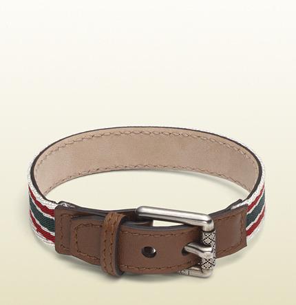 Gucci bracelet with web motif