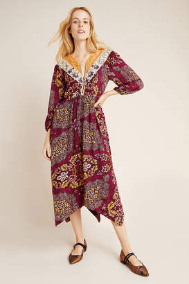 Maeve Meredith Embroidered Maxi Dress