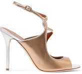 Malone Souliers Della Metallic Leather Sandals - Gold