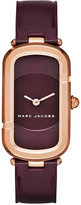 Marc Jacobs Women's The Jacob Oxblood Leather Strap Watch 23x39mm MJ1483