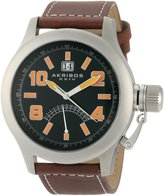 Akribos XXIV Men's AKR407OG Explorer Scouter Orange Quartz Canteen Watch