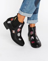 Daisy Street Patch Chelsea Boots