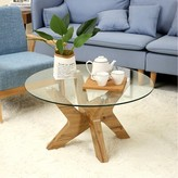 Bronx Cambridgeshire Cross Legs Coffee Table Ivy