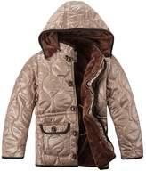 XiaoYouYu Big Boy's Windproof Hooded Winter Warm Fur Coats US Size 6