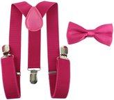 habibee Toddler Baby Boys Girls Clip On Suspenders Bow Tie Set Kid Pre Tied Bowtie