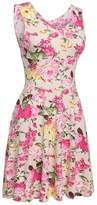 SimpleFun Ladies Women Casual Fitted Flare 50's Retro High Waist Floral A-line Dress XL