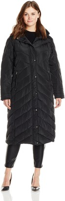 Madden-Girl Women's Plus-Size Long Maxi Puffer In Plus Sizes