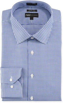 Neiman Marcus Men's Non-Iron Trim Fit Check Twill Dress Shirt