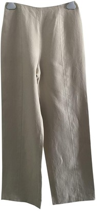 Chanel Beige Cloth Trousers for Women Vintage