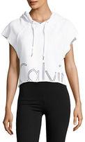 Calvin Klein Logo Printed Hooded Pullover