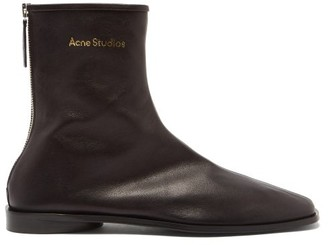 Acne Studios Berta Back-zip Stretch-leather Ankle Boots - Black