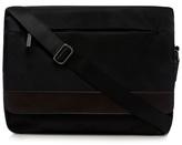 Jeff Banks Black Textured Despatch Bag