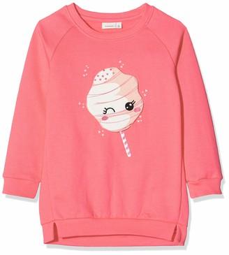 Name It Baby Girls' Nmfrija Ls Light Sweat Tunic Box Bru Sweatshirt