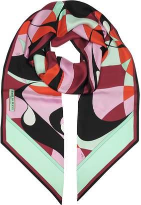 Emilio Pucci Two-Tone Abstract Print Silk Stole
