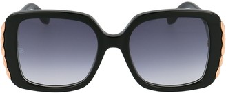 Elie Saab Oversized Square Frame Sunglasses