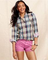 Tommy Hilfiger Shirt, Long-Sleeve Plaid-Print