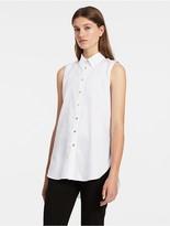 Calvin Klein Solid Boyfriend Sleeveless Tunic