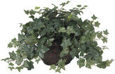 Nearly Natural Puff Ivy With Vase Silk Plant