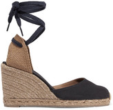 Castaner Carina Canvas Wedge Espadrilles - Midnight blue