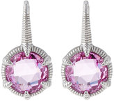 Judith Ripka Eclipse Round Pink Crystal Drop Earrings