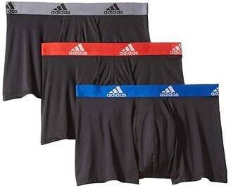 adidas Climalite(r) Trunk 3-Pack (Black/Collegiate Royal Black/Scarlet Black/Onix) Men's Underwear