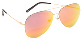 Matthew Williamson Aviator Revo Sunglasses