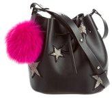 Les Petits Joueurs 2017 Fur-Embellished Daliah Star Bucket Bag