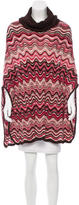 Missoni Wool Turtleneck Poncho