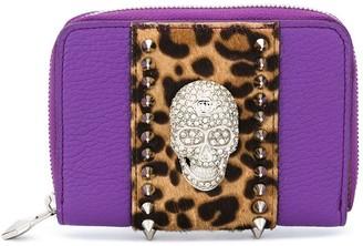 Philipp Plein Crystal Skull Small Wallet