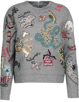 Valentino Embellished Wool And Cashmere-Blend Sweater