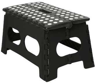 """Simplify Extra Wide 9"""" Folding Step-Stool- Striped Top (Open Dims: 15.8 x 9.8 x 8.9)"""